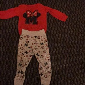 Minnie Mouse 2pc shirt with matching pants